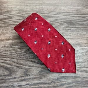 Brooks Brothers Red w/ Navy & White Paisley Tie